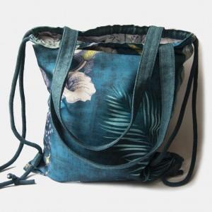 Plecak torba 2w1 ciemny turkus