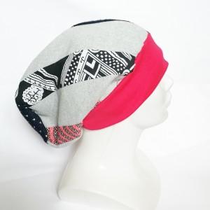 czapka patchworkowa na podszewce