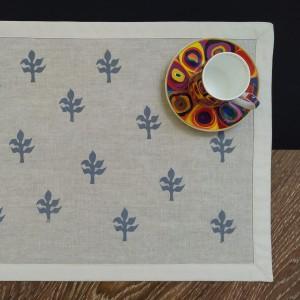 Podkładki pod talerze - szare listki