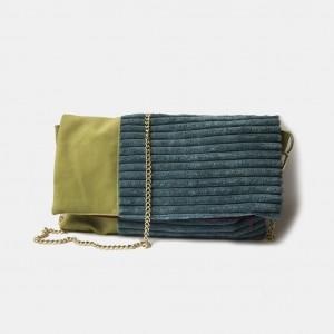 Składana torebka na łańcuszku gruby sztruks