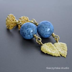 Złota Jesień, kolczyki srebro pozłacane, kolekcja Anna Karenina