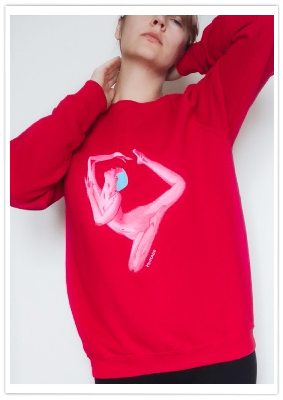 Ręcznie malowana bluza - personalizacja, na zamówienie