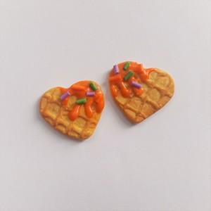 kolczyki sztyfty gofry wafle serca halloween