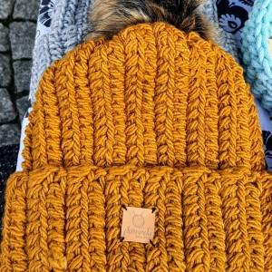 Czapka zimowa damska męska unisex crochet