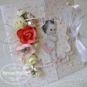 Kartka brama na roczek lub chrzest dla dziewczynki