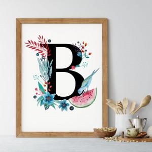 Alfabet litera B 50x70