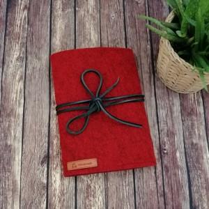 Filcowa okładka na książkę A5 c/czerwony.