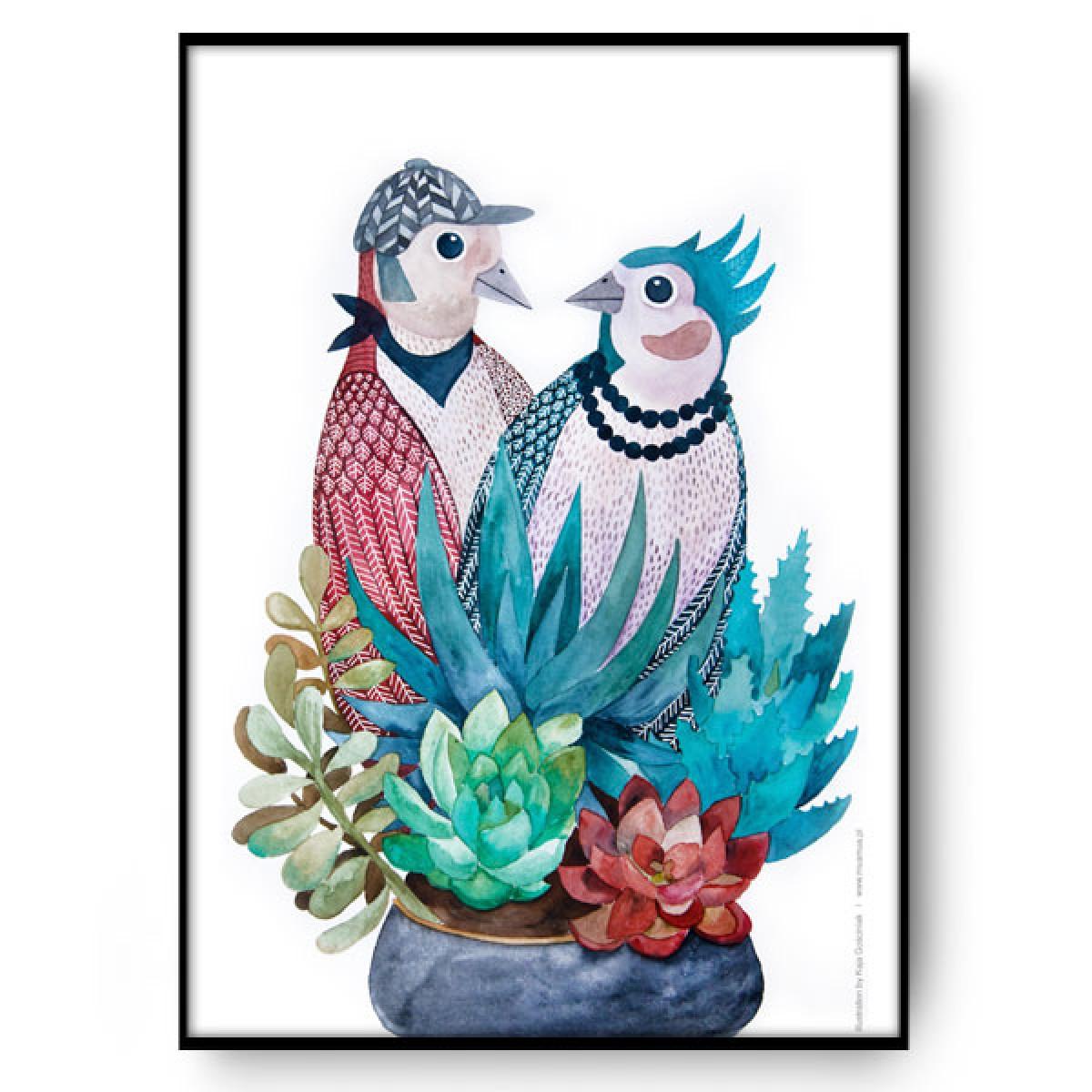 Birds in love 50x70