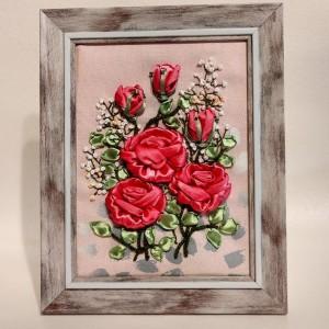 Wstążką malowane - Malinowe róże