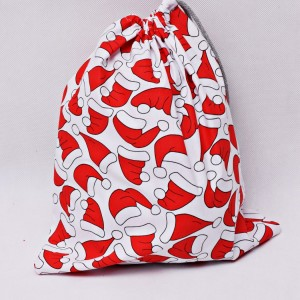 Worek na prezenty worek świąteczny, worek prezentowy, opakowanie na prezent czapki rozm L