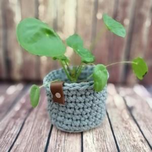 Koszyk ze sznurka bawełnianego SZARY S/M/L
