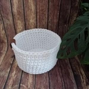 Koszyk ze sznurka bawełnianego biały rozm.XS