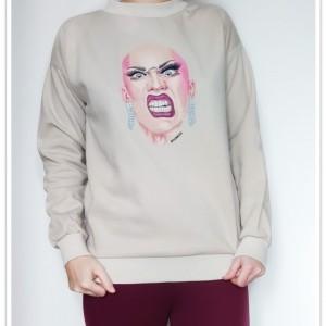Ręcznie malowana bluza Drag Queen