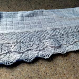 Ręcznik bawełniany z koronką