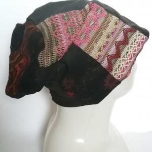 czapka na podszewce uniwersalna patchworkowa