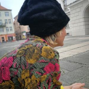 czapka czarne futerko