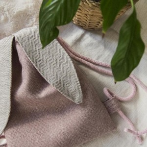 Mini plecak króliczek pudrowy róż