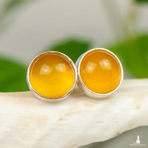 Drobinki z żółtymi agatami d108