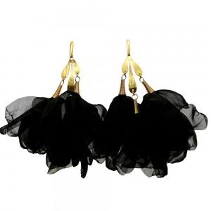 Czarne oryginalne kolczyki  c860