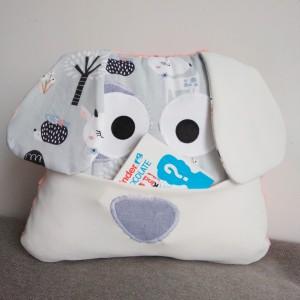 Poduszka pies z kiszonką szary