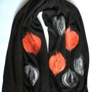 szal wełniany czarny