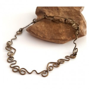 108 mosiężna, stara bransoletka; efektowna, na prezent dla niej lub dla niego