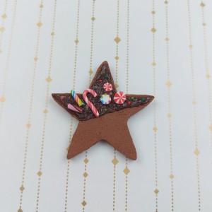 broszka piernikowa gwiazda