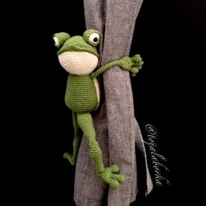 Upinacz do zasłon żaba