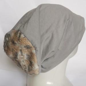 czapka damska szara na podszewce, nierozciągliwa, przejściówka, przeceniona, ostatnia, polecam box p1
