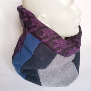 komin patchworkowy boho handmade kolorowy ciepły unisex