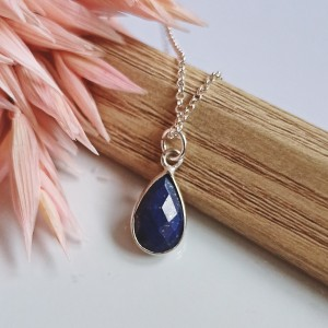 Naszyjnik Lapis Lazuli Srebro 925