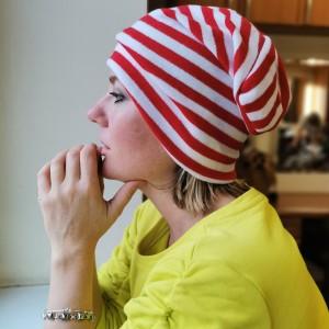czapka damska na podszewce