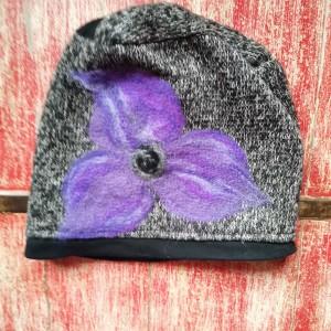 czapka ciepła filcowana wełną merynosow