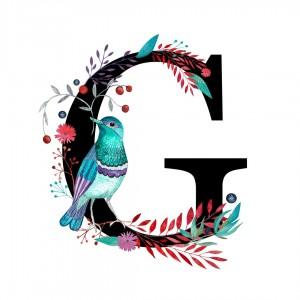 Alfabet litera G 50x70