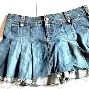 spódnica boho jeansowa biodrówka 42