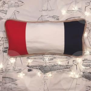 Poszewka dekoracyjna marine pasy 60 x 30 cm