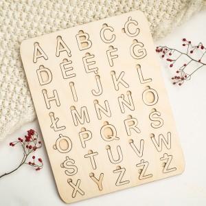 Układanka alfabet - polskie znaki