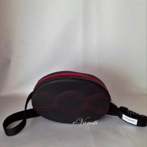Nerka saszetka biodrowa wodoodporna handmade torebka na pas torebka na ramię zaokrąglona ekoskóra