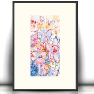 rysunek z kotem, malowany ręcznie obraz z kotem, kot grafika na ścianę