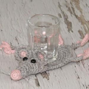 Szczurek-  podkładka pod kieliszek