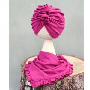 Zestaw turban i chusta róż