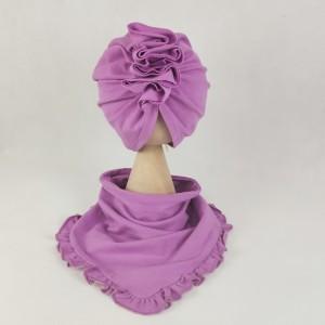 Zestaw turban i chusta irys