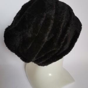 Czapka futrzana czarna ciepła