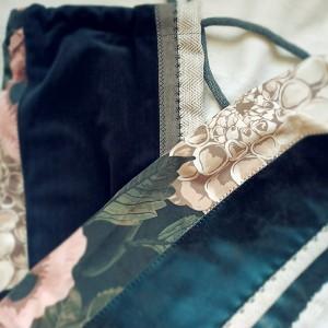 Pokrowiec na matę do jogi kwiaty jodełka