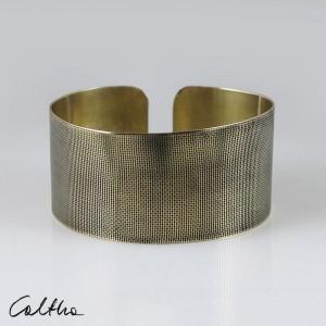 Płótno - mosiężna bransoleta 130301-03