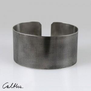 Płótno - metalowa bransoletka 151026-03