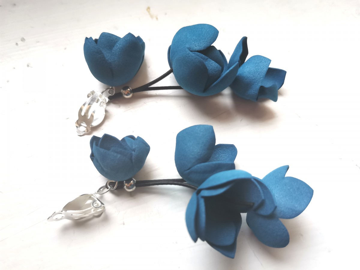 Klipsy kwiatowe lekkie