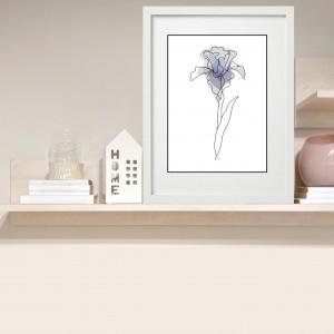 """Irys blue"" grafika autorska, plakat 30 x 40"