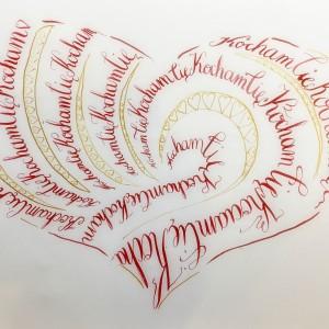 Obraz wykonany kaligrafią