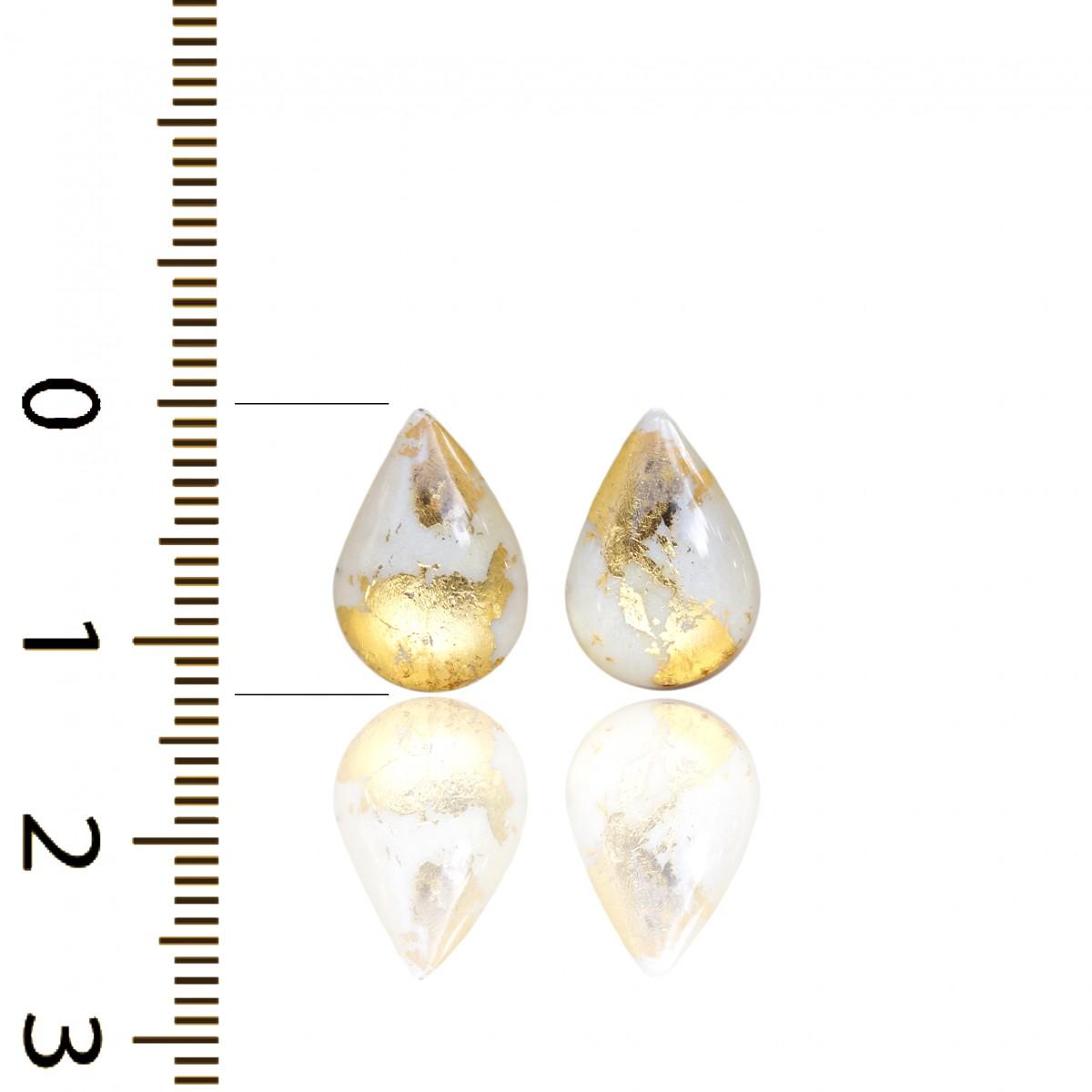 Kolczyki Łezki 24 K Złoto Srebro 925